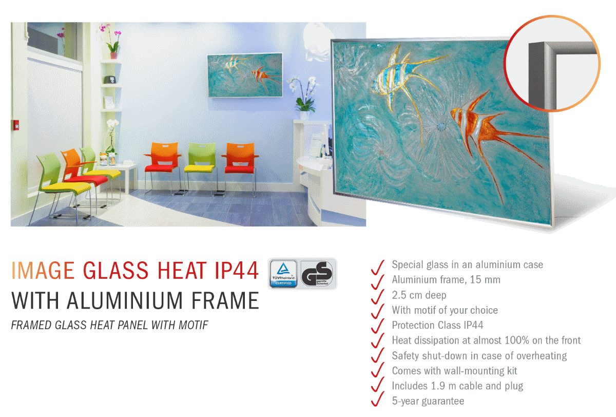 Image Glass Heat Frame IP44 Specs